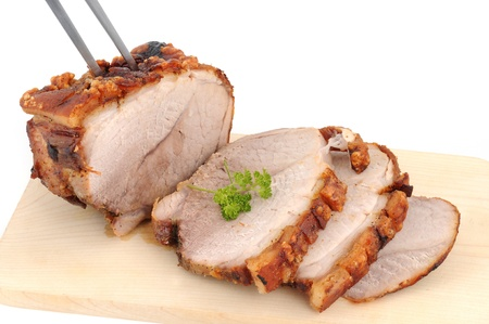 14637417 - typical bavarian roast pork in a studio shot